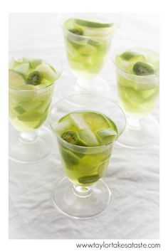 This green Midori Sangria is the perfect cocktail for any team that wears green on gameday!