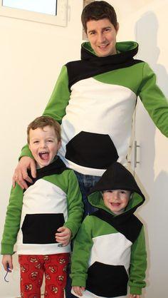 Männerschnittmuster - Rockerbuben- Schnittmuster für Männer und große Jungs Tunic Sewing Patterns, Hooded Sweatshirts, Hoodies, Rocker, Camisa Polo, Kids Wear, Kids Outfits, Pairs, Knitting