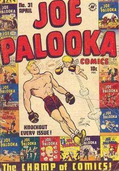 Joe Palooka Harvey No Golden Age Cartoon Character Comics Vintage Comic Books, Vintage Comics, John Waters, The Time Machine, Vintage Classics, Silver Age, Comic Book Covers, Colorful Pictures, Golden Age