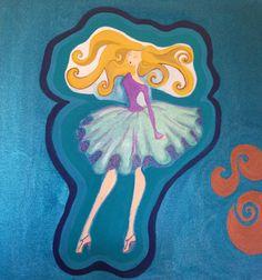 Fashion figure Acrylic painting on canvas