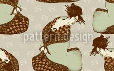 Tea Ceremony by Alexandra Bolzer available for download on patterndesigns.com Geisha, Vektor Muster, Tea Ceremony, Vector Pattern, Surface Design, Christmas Ornaments, Holiday Decor, Asian, Patterns