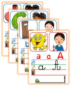 Affichage de l'alphabet -Nouvelle version Abc Cards, Kids Cards, Learning To Write, Kids Learning, Alphabet Alpha, Abc Centers, French Education, Teaching French, Mothers Day Cards