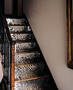 Tiled staircase - cool! too many stair ideas, every staircase in my house will have a different design :)