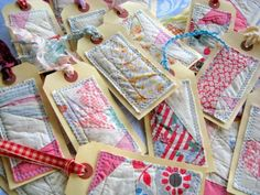 8 Vintage Quilt Gift Tags by bugsie on Etsy, $12.00