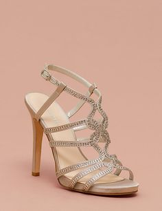 A strappy satin & jewel sandal will give your formal ensemble added sophistication. Jeweled Sandals, Contemporary Fashion, Perfect Match, Gladiator Sandals, Footwear, Fashion Outfits, Bridal, Heels, Satin