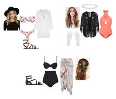 """""""~Beach Day~"""" by haliesmyles on Polyvore featuring Hot Anatomy, Beach Riot, Accessorize, Lilliput & Felix, Gianvito Rossi, Miguelina, Forever 21, Melissa, RHYTHM and Robert Rose"""
