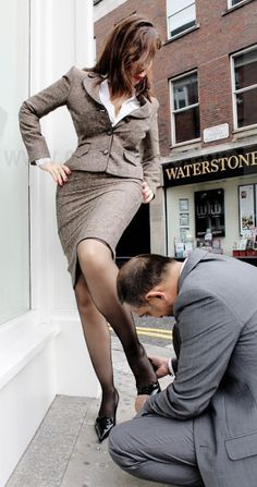 Will your businesswoman heels femdom join. was