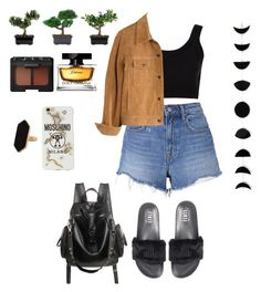 """Afternoon."" by agnesenapoli on Polyvore featuring Jaeger, T By Alexander Wang, Puma, Calvin Klein Collection, Madewell, NARS Cosmetics, Nearly Natural, Dolce&Gabbana and Moschino"