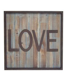 Cheungs Rattan Imports Wood & Metal Love Wall Sign | zulily