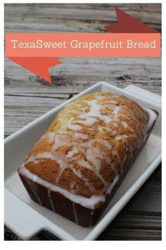 TexaSweet Grapefruit Bread from House of Fauci's Quick Bread Recipes, Sweet Recipes, Cake Recipes, Dessert Recipes, Breakfast Recipes, Fruit Bread, Dessert Bread, Grapefruit Recipes Dessert, Grapefruit Cake