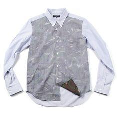 cdg homme reverse camo shirt