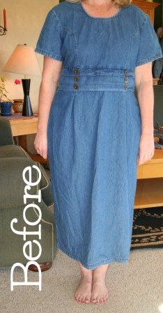 Upcycled Denim Skirt