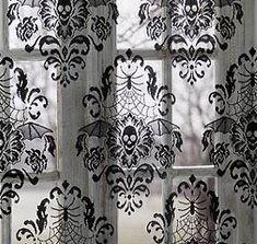 Damask Skull Window Panel