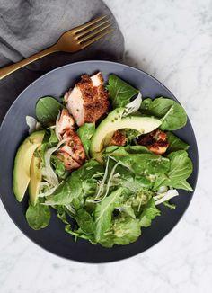 arugula salad with fennel and salmon, via @goop