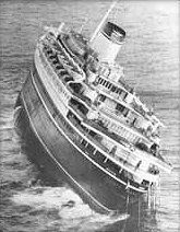 Andrea Doria Sinking. I was a young boy when I visited this ship in New York Harbor, just a few months before she sank in July 1956.