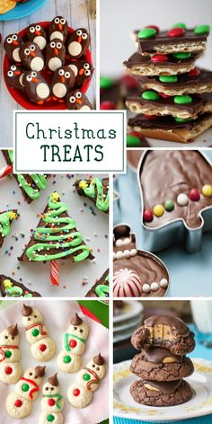 Fun Christmas Treats for the holiday party season. Lots of great ideas for DIY baking gifts or special treats for kids. (holiday treats for kids) Christmas Treats To Make, Christmas Snacks, Christmas Cooking, Christmas Goodies, Holiday Treats, Christmas Fun, Holiday Recipes, Christmas Recipes, Christmas Parties