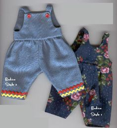 how to: doll overalls