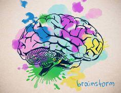 Descargar - Cerca del cerebro humano colorido creativo dibujo sobre fondo claro. Concepto de Brainstorm — Imagen de stock #133104144