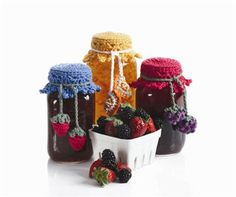 Canning Jar Toppers  ~ Neat idea for gifts! Especially for labeling homemade jams and sauces :)