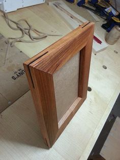 This is a simple picture frame. I made it using Cherry with Black Walnut Splines for decoration and to re-enforce the miter joints 5x7 Picture Frames, Design Elements, Cherry, House Ideas, Woodworking, Craft Ideas, Projects, Pictures, Crafts