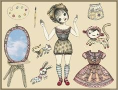 The Paper Collector: Etsy paper dolls