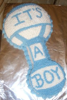 Baby Shower Decoration Ideas For A Boy | it s a boy i m new to cake decorating so i got ideas for this cake ...
