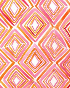 orange, pink, red, and white triangle #pattern