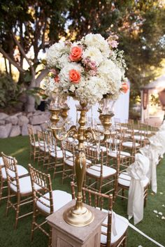 Some Like It Classic creates a one of a kind gorgeous and glamorous Arizona wedding using orange and gold colors to decorate. Mod Wedding, Floral Wedding, Wedding Flowers, Wedding Orange, Dream Wedding, Wedding 2015, Wedding Bells, Wedding Dresses, Gold Candelabra