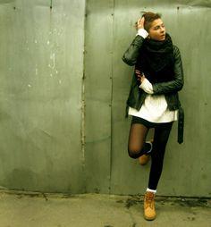 Levis Jacket, Timberland Boots - The coldest autumn - Alina Galaktionova