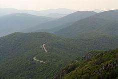Skyline Drive cutting through Shenandoah National Park