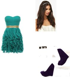 """Soirée Danielle"" by charline-virot ❤ liked on Polyvore"