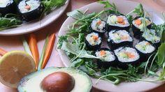 Makis de Coliflor con Salsa Antiinflamatoria Salsa, Fresh Rolls, Sushi, Healthy Recipes, Ethnic Recipes, Food, Cauliflower, Vegetables, Dishes