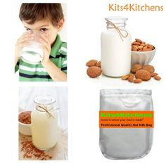 For easy gluten free/dairy free diet.  Amazon.com: Professional quality nut milk bag.  Best for making low acidity cold brew coffee, delicious almond milk, juicing, sprouting and any food prep or straining. Reusable food strainers, food grade nylon large size filter bag.