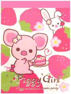 San-x Piggy Girl Strawberries Mini Memo Pad...sweet :)