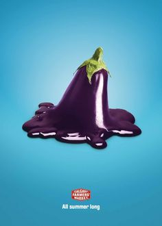Calgary Farmers' Market: Eggplant Creative Advertising, Advertising Design, Ads Creative, Creative Director, Summer Poster, Freelance Graphic Design, Advertising Campaign, Graphic Design Illustration, Photomontage