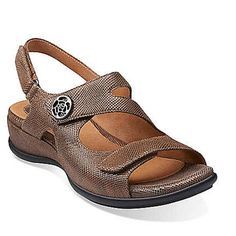b1ce221cd1f Clarks Tiffani Aldora Slingback Sandal - Mushroom Wide Shoes