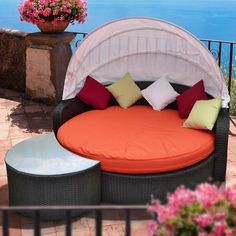Perectiona Canopy Daybed with Coffee Table
