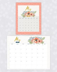 Make the most out of the new year and stay organized for 2018 with these new 2018 Floral Calendar Printables! Free Printable Calendar, Free Printables, Printable Tags, Diy Back To School, Yearly Calendar, Do It Yourself Crafts, Cool Diy Projects, How To Make Paper, Getting Organized