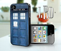 Dr Who Tardis Phone Booth Cover  iPhone 4 4s by LBCustomDesignsLLC