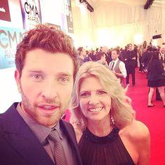 Brett Eldredge and his beautiful mom on the CMA Awards red carpet! Photo taken from Brett's instagram @ bretteldredge