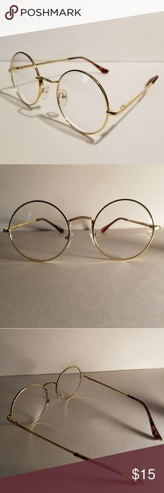 c4afa80379a4 Cartier style Round Rim Glasses FRAME  Gold LENS  Clear SIZE  140  Accessories Glasses