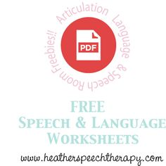 Free Speech & Language Worksheets