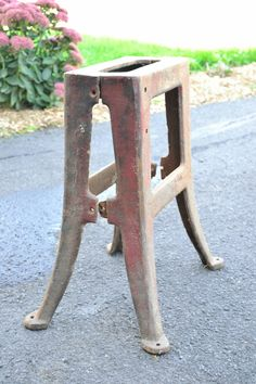 Cast Iron machine table legs by TheReuseItStore on Etsy, $150.00
