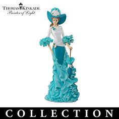 Thomas Kinkade Proud Promenade Ovarian Cancer Support Figurine Collection