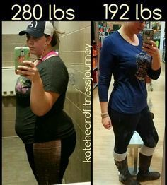 Great success story! Read before and after fitness transformation stories from women and men who hit weight loss goals and got THAT BODY with training and meal prep. Find inspiration, motivation, and workout tips | 88 Pounds Lost: This is me and I love her! Weightloss transformation story