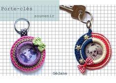 porte-clés au crochet  keychain