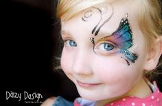 Kids' Butterfly Face-Paintings by Daisy Design