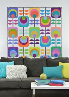 Flower Power quilt by Susan Emory. Summer Lovin' at Michael Miller Fabrics.