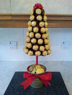 Ferrero Rocher Cone Sweet Tree; will work with Baci