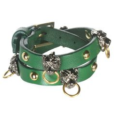 Green Gia Leather Wrap Bracelet - Fallon